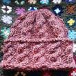 やっと手編みの帽子が完成しました!