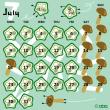 オクラ和えカレンダー(7月)