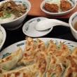 京成大久保 日高屋 ダブル餃子定食 と  焼きとり丼