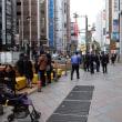 新宿駅東口商店街の社会実験を見に行きました