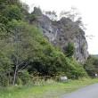 平取町二風谷「クマの姿岩」 アイヌ伝説の岩崩落、国指定の重要景観