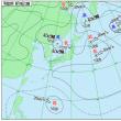 8月19 アメダスと天気図。
