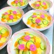 施設ごはん 「彩りちらし寿司&トロピカルゼリー」