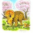 桜とトリケラトプス