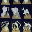 ケント紙と他の素材を組み合わせた立体作品