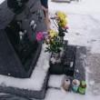 雪の中、お墓参り。