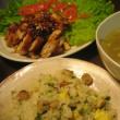 炊き込み炒飯と中華蒸し菓子