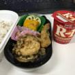 今日のお昼ご飯 豆腐ハンバーグとさんま竜田の二段弁当