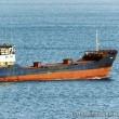 ロシア貨物船が台風で座礁した  伏木港