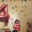 Mちゃん4歳の誕生日でした。