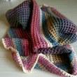 ワッフル編みのブランケット