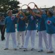 8月25日(土)のつぶやき 大原校区の灯明祭りに出席。2020オリンピック、パラリンピックを目指さして三波春夫のオリンピック音頭。見事五輪マークの完成です。