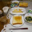 バターとミルクの食パンで朝食とコーヒーorティー?