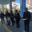 新婦人バザー、福井市九条の会宣伝活動、西村市議・山田ふみは市議候補と宣伝対話