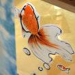 ・ 金魚を鮮やかに描く実演を見て来ました 2017