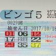 ビンゴ5第29回の購入数字と抽選結果