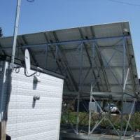 ソーラーパネルの工事は終わった