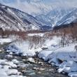 剱橋から伊折橋へ、雪はしだいに深くなる(2)・・・上市町・県道剱岳公園線