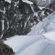 標高3842mのエギーユ・ミディ展望台からのパノラマ