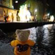 [粟田神社」の夜渡神事。大燈呂が夜の氏子町を巡行。