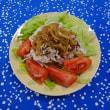 豚肉のホットサラダ