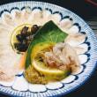 オコゼの薄造り&味噌汁