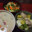 根菜と豆の味噌豆乳シチュー