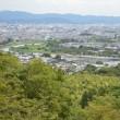 まち歩き右0943  亀山公園 からの 渡月橋の眺め