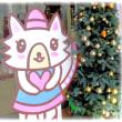 """街中はクリスマスムードが…(^^♪商売繁盛の招き猫""""アモちゃん""""で~す。"""