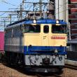 武蔵野線を行く国鉄特急色EF65 PF牽引貨物列車