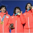 【日本、金メダル!】・・・・・・・・一糸乱れぬスピードスケート女子団体パシュート!