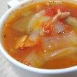 ベーコンとズッキーニのトマトスープ