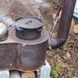火消し壷とダッチオーブンの炭焼き