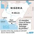 海賊がスイスの貨物船襲撃、12人拉致 ナイジェリア沖