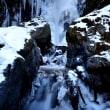 雪と氷の神通滝