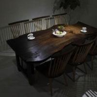 【無垢一枚板商品登録】クラロウォールナット 一枚板 ダイニングテーブル を撮影致しました。【DT-866】