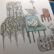 森の王国ぬりは楽しい♪ 花の椅子