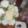 長男が結婚式でもらってきた花