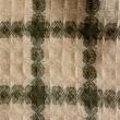 ワッフル織りチェックマフラー