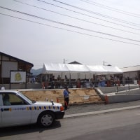 Public preview of the public housing for the disaster victims in Ogakuchi, Otsuchi town