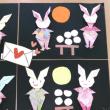 折鶴4羽からお月見ウサギ*\(^o^)/*