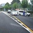 昭島市にて「乗用車がガードレールに」