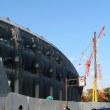 建設中の競技場(2017.11.16)