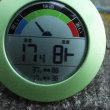 平成30年7月19日・今朝の東祖谷17.4℃