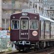 阪急 塚口西踏切(2012.10.13) 3077F 回送