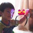 光るおもちゃと「はる」&「りお」・・孫たち♪ (1)