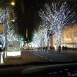 東京の丸の内のライトアップと六本木ヒルズのライトアップと東京タワー