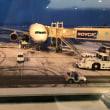 新千歳空港は雪