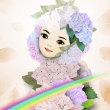 紫陽花を纏う妖精