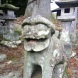 古峰ヶ原街道の狛犬